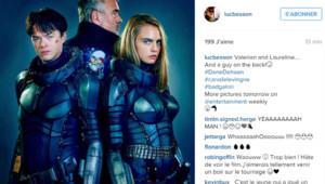 Luc Besson pose avec Cara Delevingne et Dane DeHaan, les deux héros de son Valérian.