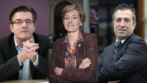 Philippe Lottiaux (FN), Cécile Helle (PS) et Bernard Chaussegros (UMP)