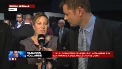 """Catherine, assistante maternelle, a interrogé François Hollande sur TF1 : """"Le stress retombe"""""""