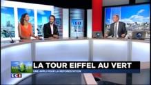 """COP 21 : """"La Tour Eiffel se transforme en forêt virtuelle"""""""