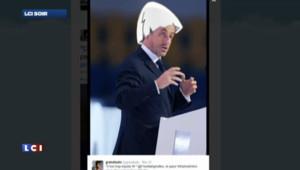 Nicolas Sarkozy transformé en Calimero par un internaute, le 20 mars.