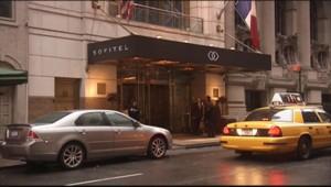 Façade de l'hôtel Sofitel de Times Square, à New York