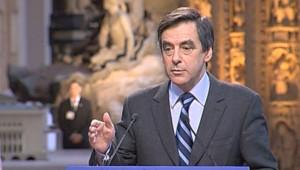 François Fillon lors de ses voeux à la presse le 15 janvier 2008