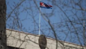 La drapeau de la Corée du Nord