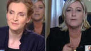 Clash entre Marine Le Pen et NKM sur le vote blanc