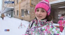 Moscou recouverte par 20cm de neige