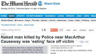 Capture écran du site du quotidien américain Miami Herald.