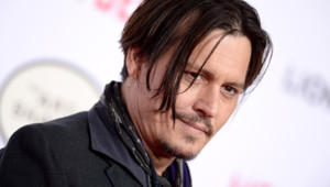 Johnny Depp à la première de Mordecai en 2015