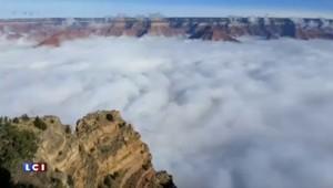 Le Grand Canyon se couvre d'une mer de nuages
