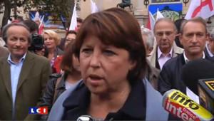 Retraites : l'appel d'Aubry, venue défiler à Paris