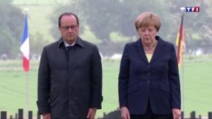 Verdun : Angela Merkel et François Hollande côte-à-côte pour la commémoration du centenaire