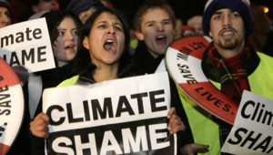 Des militants écologistes à Copenhague.