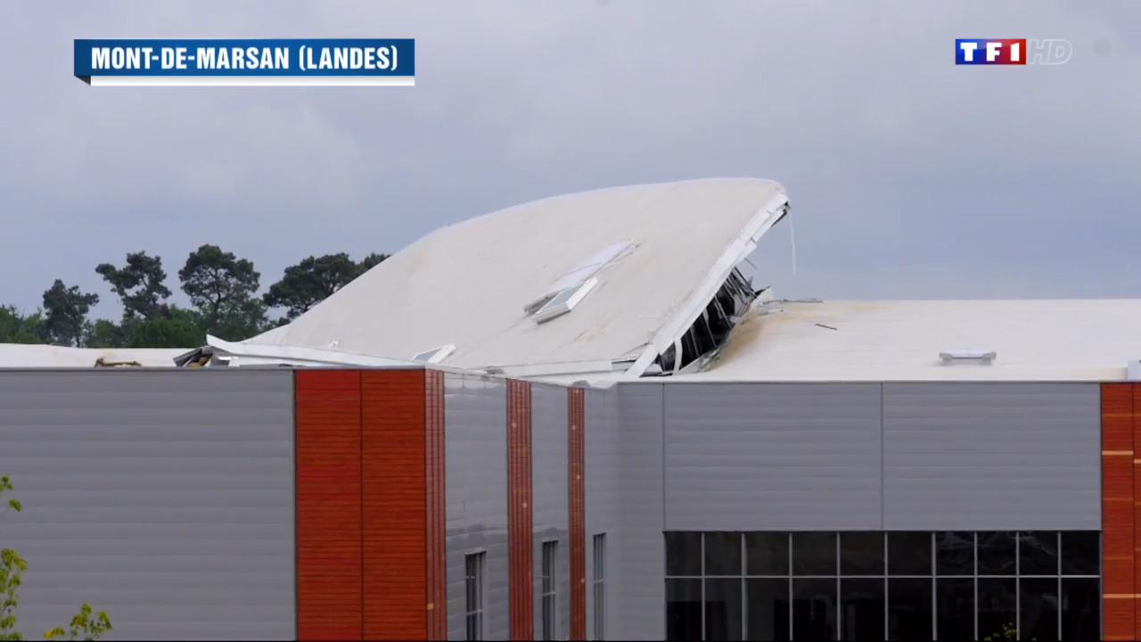 mont de marsan effondrement d une partie du toit d un centre commercial le journal de 13h