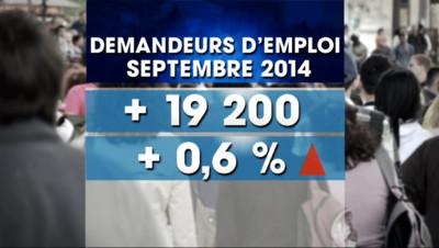 Le 20 heures du 24 octobre 2014 : Ch�e : le nombre de demandeurs d%u2019emploi repart �a hausse en septembre - 568.094