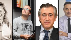 Marie Sermadiras de Pouzols (Zensoon), Arnaud Péré (Flipmylook), Bernard Hodac (Osmos) et David Simonnet (Axyntis) : les patrons se confient à TF1 News
