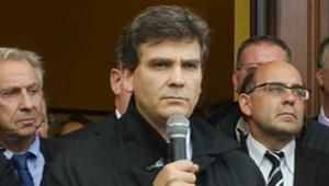 Arnaud Montebourg à Florange, le 27 septembre 2012.