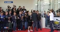 """Brad Pitt à Paris pour la promo de """"Fury"""""""