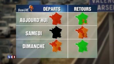 """Départs en vacances : les routes de France """"en rouge et noir"""" ce week-end"""