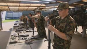 Des soldats de l'armée suisse.