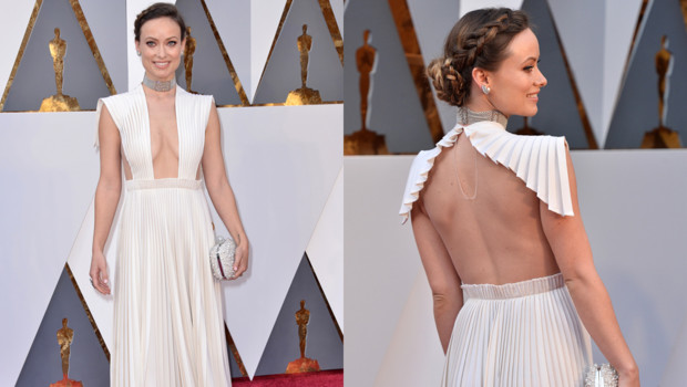 Olivia Wilde sur le tapis rouge des Oscars 2016