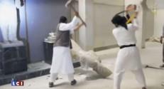 L'image choc du jour : des jihadistes de l'EI détruisent des sculptures pré-islamiques en Irak