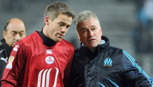 Mickaël Landreau et Didier Deschamps en 2010.