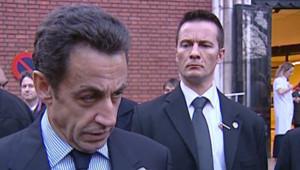 Nicolas Sarkozy adressant ses condoléances aux proches des victimes d'une attaque en Mauritanie (24 décembre 2007)