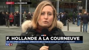 Opération séduction de François Hollande à La Courneuve