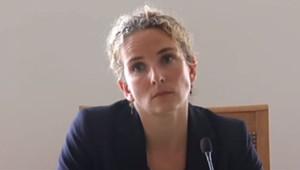 Delphine Batho lors de sa conférence de presse le 4 juillet 2013
