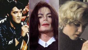 Elvis Presley, Michael Jackson, Marilyn Monroe (montage)