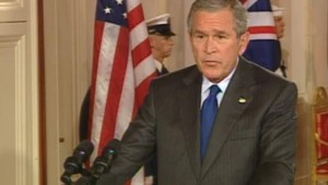 Bush en conférence