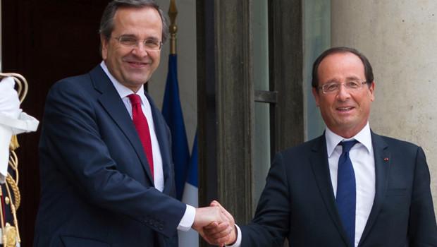 François Hollande et le premier ministre grec.