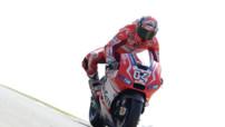 Le pilote italien de la Ducati n°4, Andrea Dovizioso.