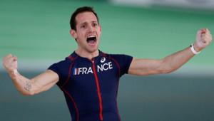 Renaud Lavillenie, sacré champion du monde en salle de saut à la perche le 17 mars 2016 à Portland, aux Etats-Unis.