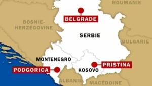 TF1/LCI carte serbie-monténégro-kosovo