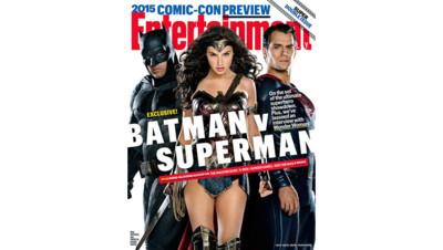Batman v Superman en couverture d'Entertainment Weekly