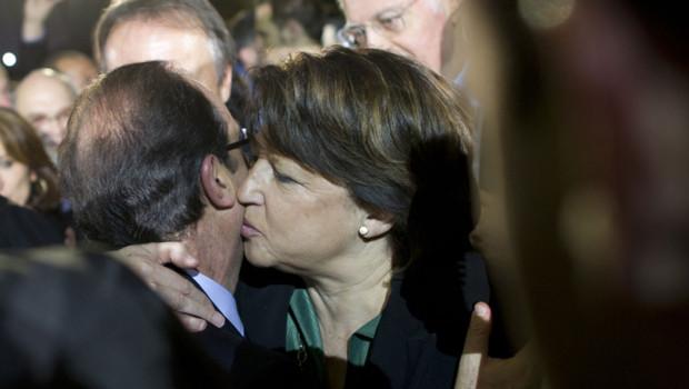 Martine Aubry le 22 janvier 2012 au Bourget PS Hollande