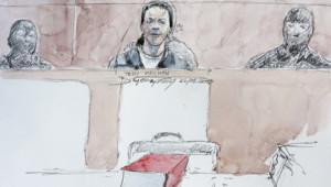 Tony Meilhon devant la cour d'assises de Nantes.