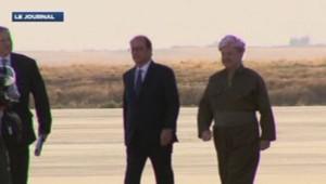 Hollande en visite au Kurdistan