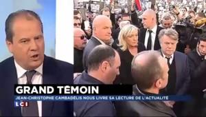"""Cambadélis: """"Marine Le Pen ne peut pas représenter la nation"""""""