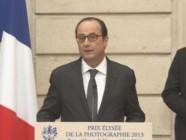 François Hollande lors de la remise du Prix Elysée de la Photographie, le 26 novembre 2014.
