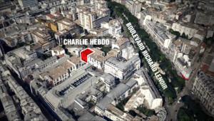 Le siège de Charlie Hebdo à Paris
