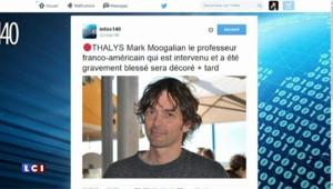 Oeil du web : la réception des héros du Thalys à l'Elysée
