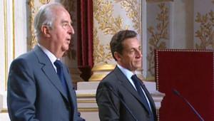 Edouard Balladur et Nicolas Sarkozy
