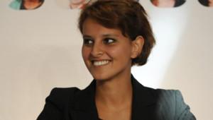 La socialiste Najat Vallaud-Belkacem à La Rochelle en août 2011