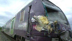 Le TER impliqué dans la collision à Allinges