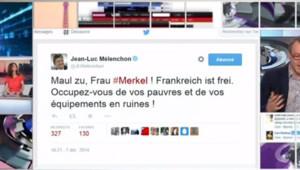 melenchon twitter Merkel