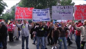 Réforme des retraites : manifestation à Paris à l'appel de FO (15 juin 2010)