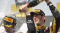Romain Grosjean Podium GP F1 Hongrie 2012