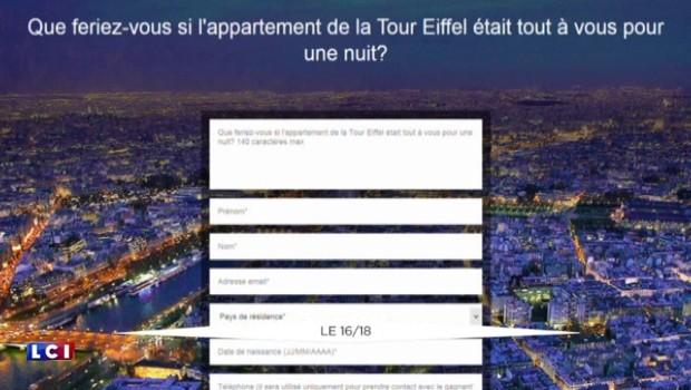 Dormir à la Tour Eiffel, c'est possible !
